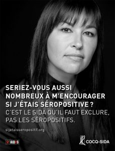 Chantal Petitclerc campagne Si j'était séropositive