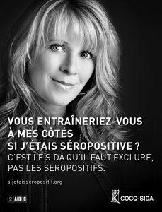 Affiche Cocq-sida Josée Lavigueur