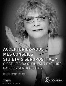 Affiche Cocq-sida Michelle Blanc